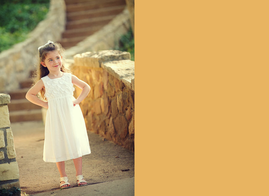 white dress little girl
