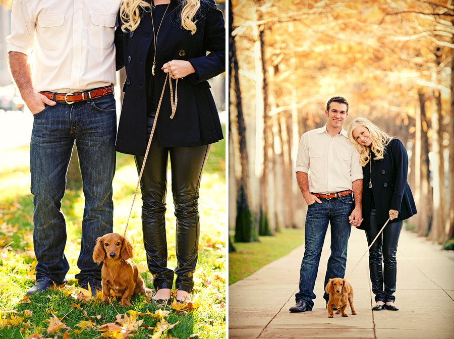 engagement photos in dallas with dog