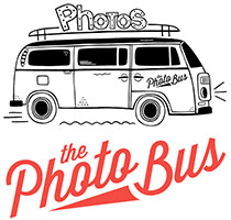 The Photo Bus DFW is a unique mobile photo booth in the back of a restored vintage VW Bus.