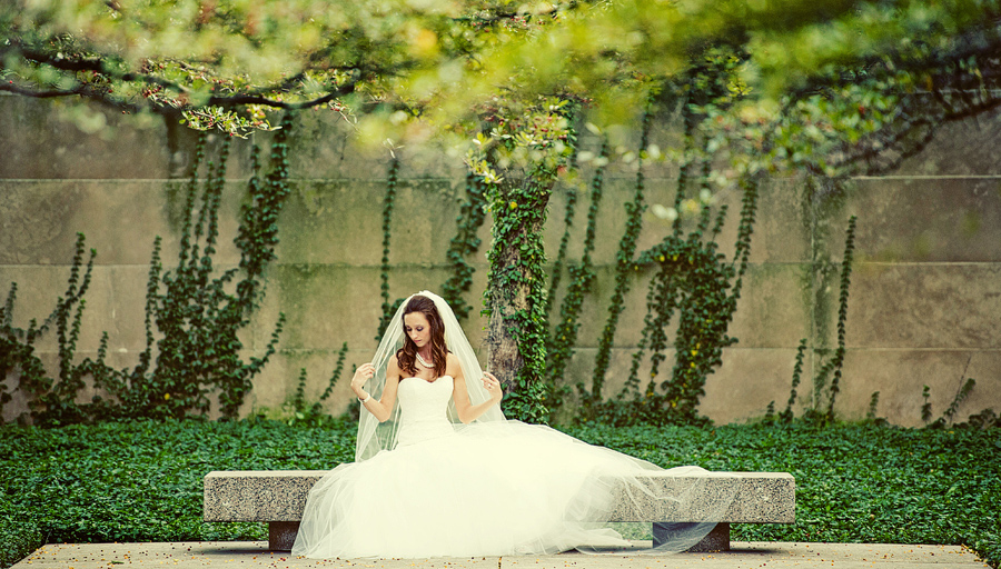 Bridal picture taken by kyle coburn at the chicago art institute