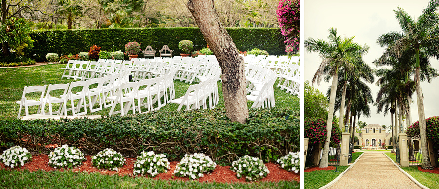 private backyard wedding photos