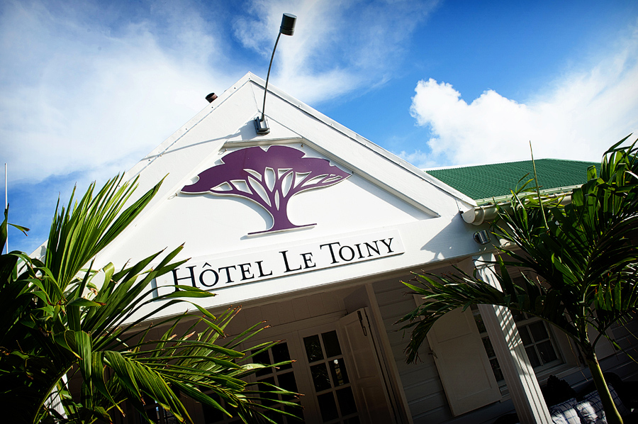 Entrance to Hotel Le Toiny in St. Barths