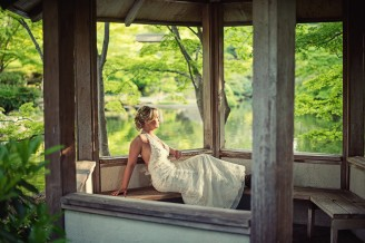 Japanese Gardens bridal picture
