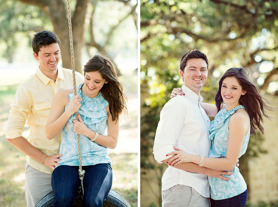 Houston Oaks Country Club Engagement Photos