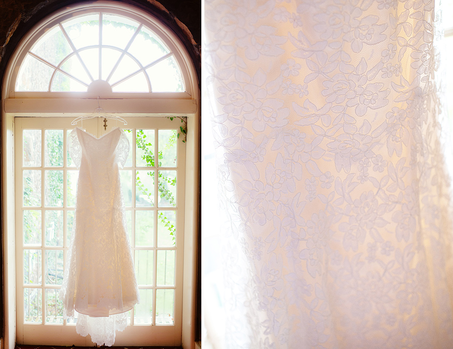 Wedding Dress photograph at a wedding in Casanova Virginia at the Inn at Poplar Springs