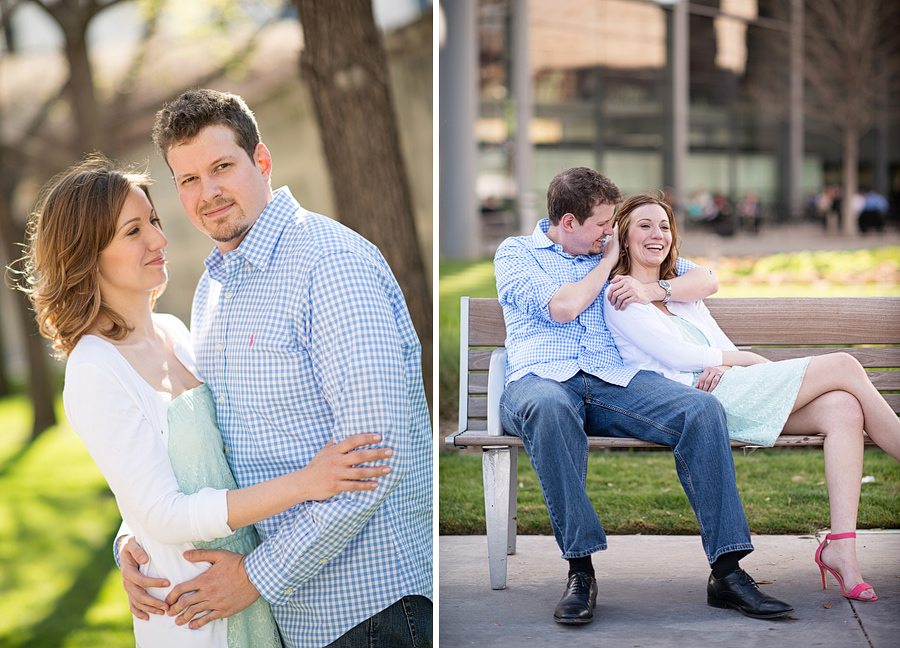 Dallas downtown engagement photos