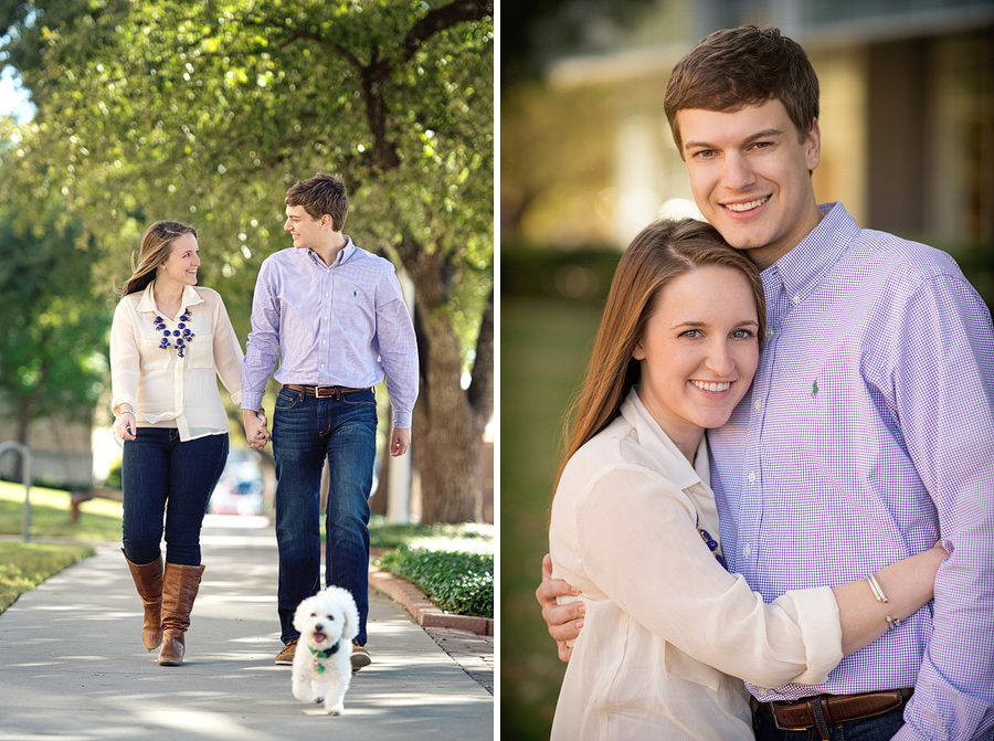 Fort Worth Engagement photos at TCU campus