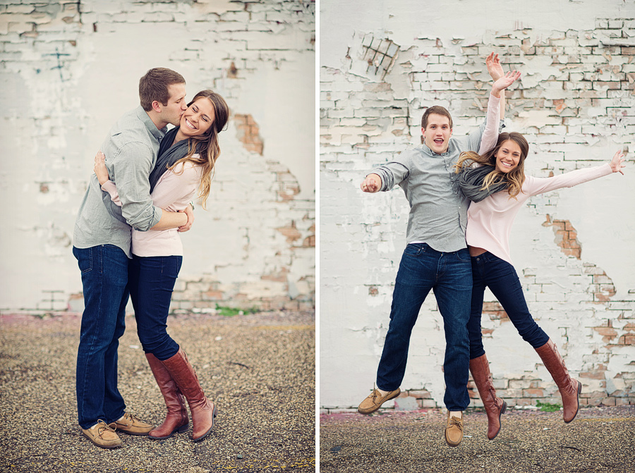 Fun exciting relaxed engagement photos in dallas