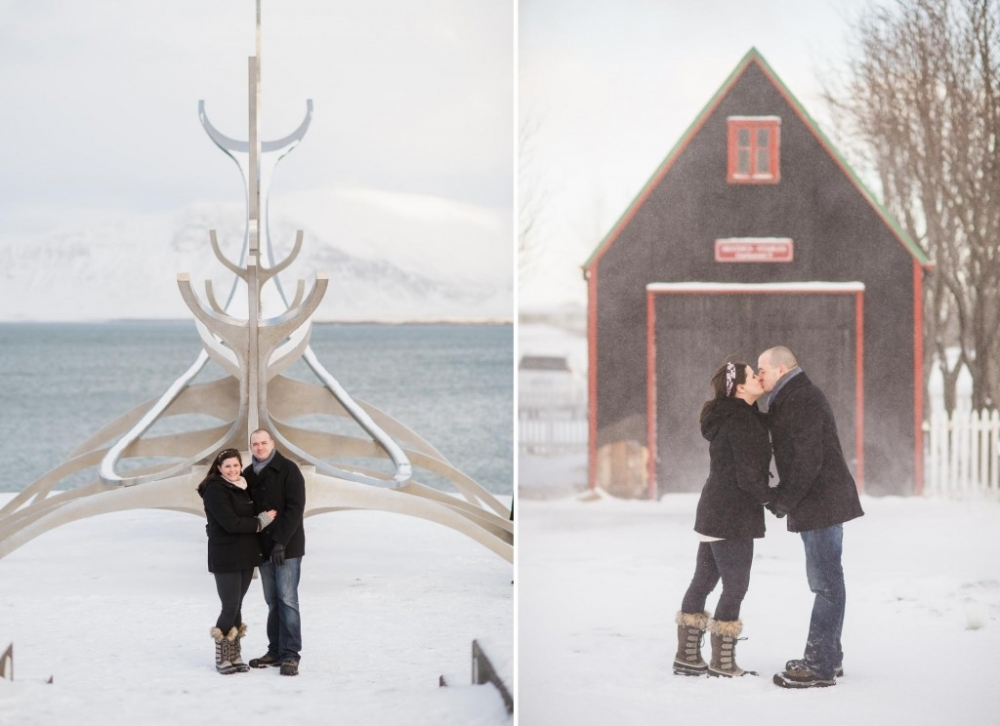 snow ocean engagement photos