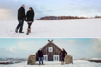 Snow engagement photo ideas